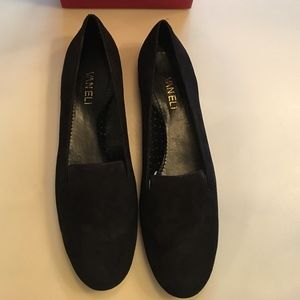 NEW IN BOX VANELi Sely Black Suede Flat Loafer